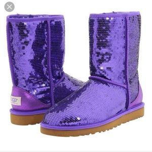Purple Sparkle Uggs.
